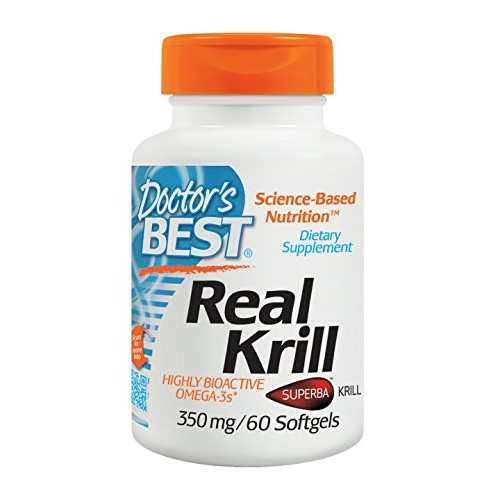Doctor's Best Real Krill, 350mg 60-Count [60 count]