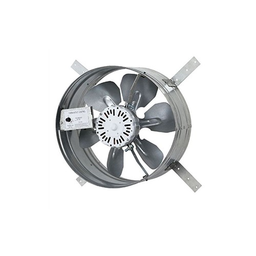 iLIVING Newest Automatic Gable Mount Attic Ventilator Fan with Adjustable Thermostat, 3.10 Amps