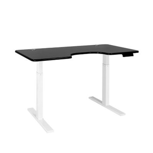 SmartDesk Standing Desk with Electric Adjustable Height - White Frame and Black Ergo Top