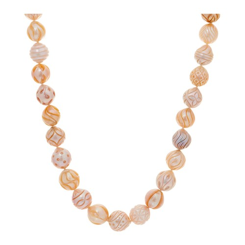 Honora Cultured Pearl Carved Ming 18\