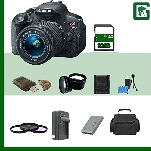 Canon EOS Rebel T5i DSLR Camera with EF-S 18-55mm f/3.5-5.6 IS STM Lens 32GB Package 3