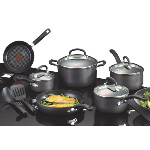 T-Fal Ultimate Hard Anodized 12-piece Cookware Set Aluminum
