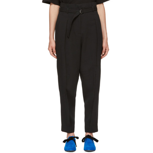3.1 PHILLIP LIM Black Darted Crepe Trousers