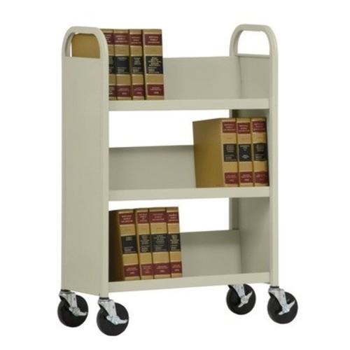 Sloped-Shelf Book Cart Color: Blue