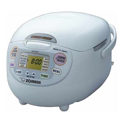 Zojirushi NS-ZCC18 10-Cup Neuro Fuzzy Rice Cooker, 1.8-Liters, Premium White [1.8 Liter]