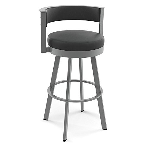 Amisco Browser 26 in. Swivel Counter Stool [Dark Brown]