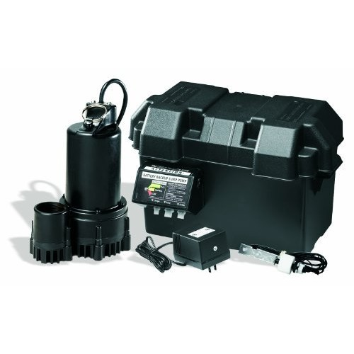 WAYNE ESP25 12 Volt Battery Back-Up Sump Pump System with Audible Alarm [3300 Gallon Per Hour, Standard]