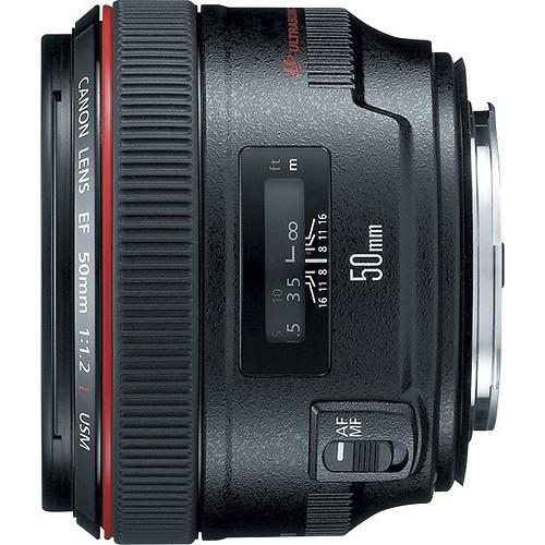 Canon EF 50mm f/1.2 L USM Lens for Canon Digital SLR Cameras - Fixed [Lens Only]