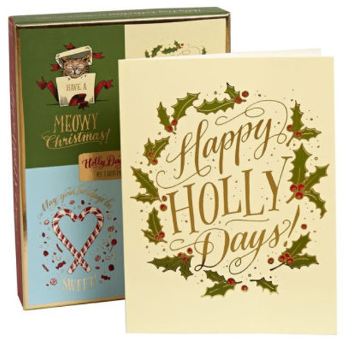 Holly Day Collection Ladyfingers Letterpress Christmas Boxed Card