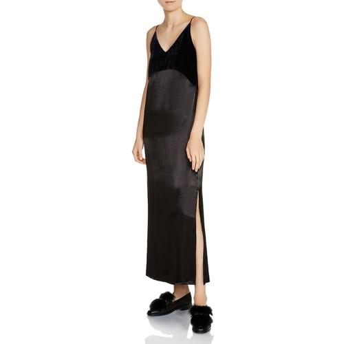 MAJE Ryck Midi Slip Dress