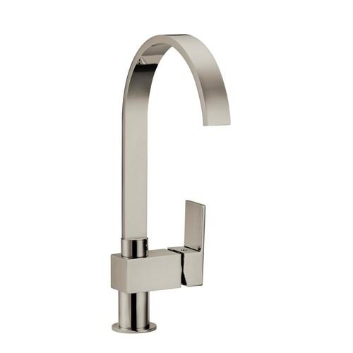 Design House Karsen Single-Handle Standard Kitchen Faucet in Satin Nickel