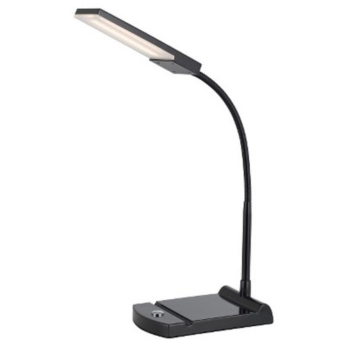 Cal Lighting LED Black Gooseneck Desk Lamp