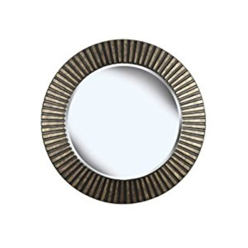 Kenroy Home North Beach Wall Mirror with Bronze Finish, 34-Inch Diameter [Bronze]
