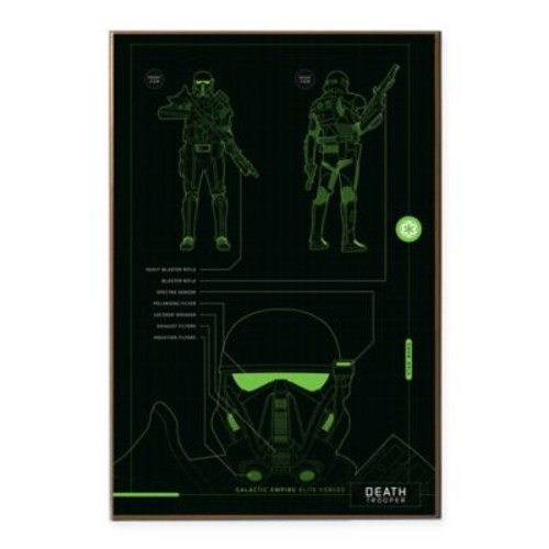 Star Wars Rogue One Death Trooper Blue Print 13-Inch x 19-Inch Wall Dcor Plaque