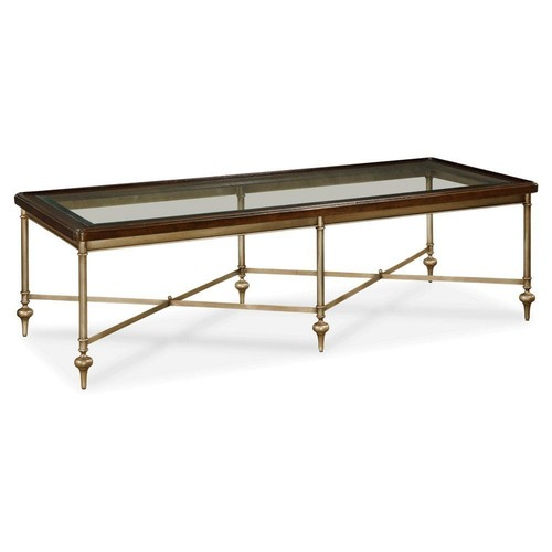 Isabel Coffee Table, Gold/Espresso