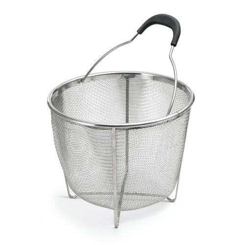 PolderStainless Steel Strainer and Steamer Basket, Silver