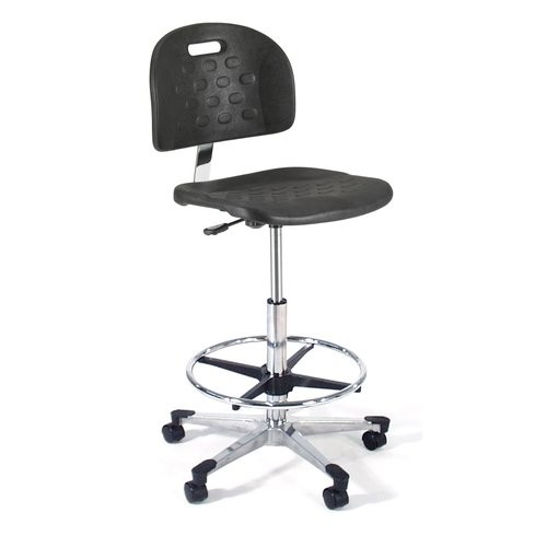 Intensa Height Adjustable Back Self Skin Laboratory Stool with Flat Base