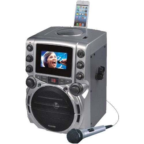 Karaoke USA(TM) GQ743 CD+G Bluetooth(R) Karaoke System with 4.3