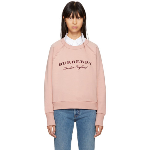 BURBERRY Pink Logo Sweatshirt