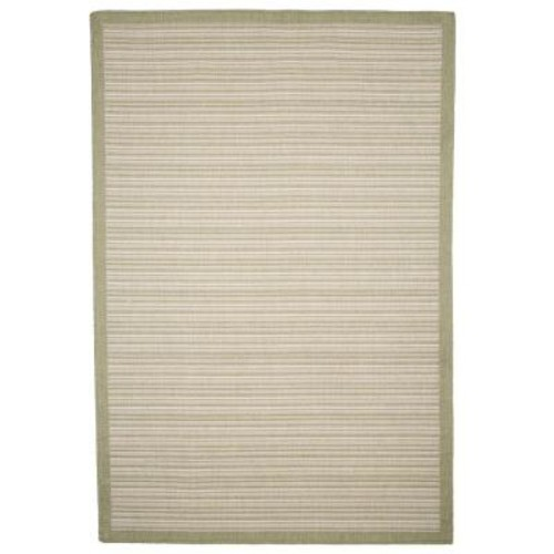 Casual Stripe Green 5 ft. x 8 ft. Indoor/Outdoor Area Rug