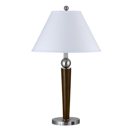 100-watt 1-outlet Rocker Switch Metal Table Lamp