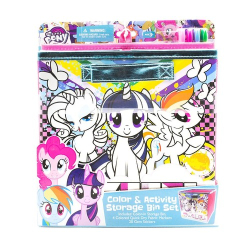 My Little Pony Color and Activity Storage Bin Set
