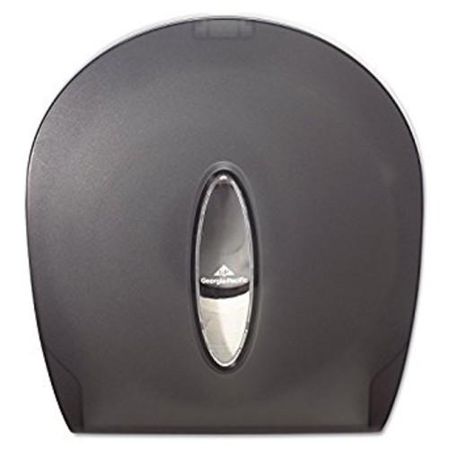 Georgia-Pacific GP 59009 Translucent Smoke Jumbo Jr. Bathroom Tissue Dispenser, 10.61