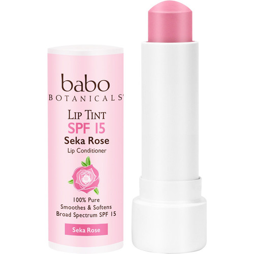 Sheer Lip Tint Conditioner SPF 15 Seka Rose Mineral Sunscreen Lip Balm