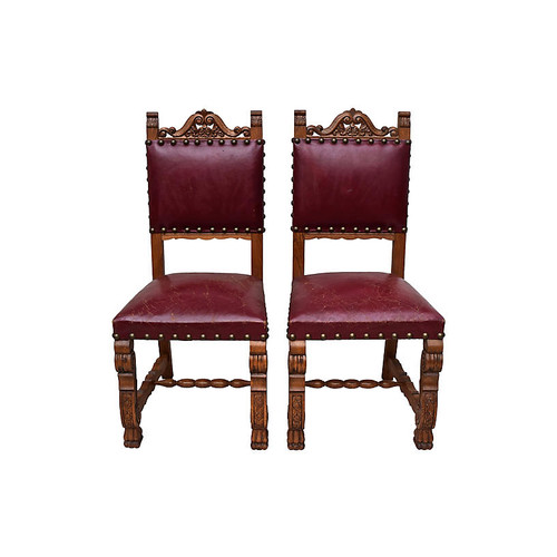 Spanish Colonial Chairs, Pair