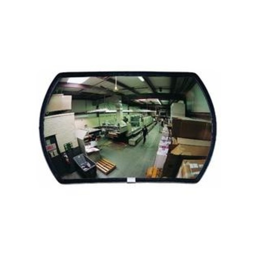 SeeAll See All RR1218 Round Rectangular Glass Indoor Convex Security Mirror, 18