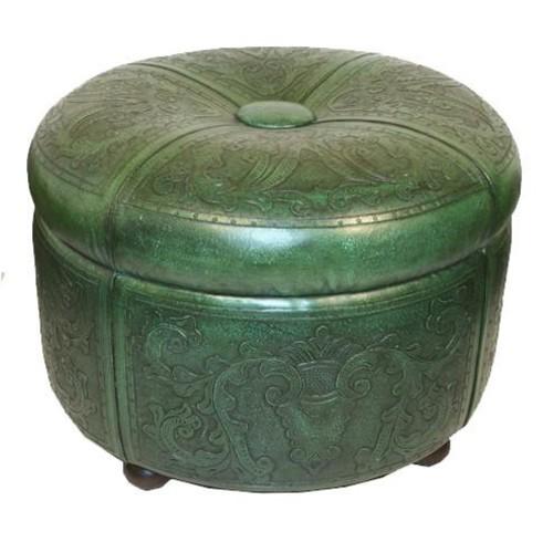 Bouquet Storage Ottoman in Green