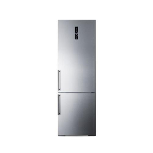 Summit 24 in. W 11.6 cu. ft. Bottom Freezer Refrigerator in Stainless Steel, Counter Depth