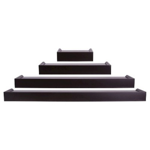 AZ Home and Gifts nexxt Vertigo 24 in. L MDF Wall Ledge Set in Espresso (4-Piece)