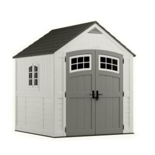 Suncast Cascade 7 ft. 3 in. x 7 ft. 4.5 in. Resin Storage Shed