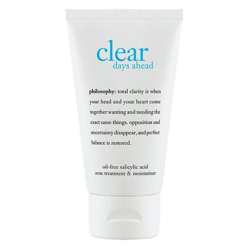 philosophy clear days ahead oil-free salicylic acid acne treatment & moisturizer [2 oz (59 ml)]