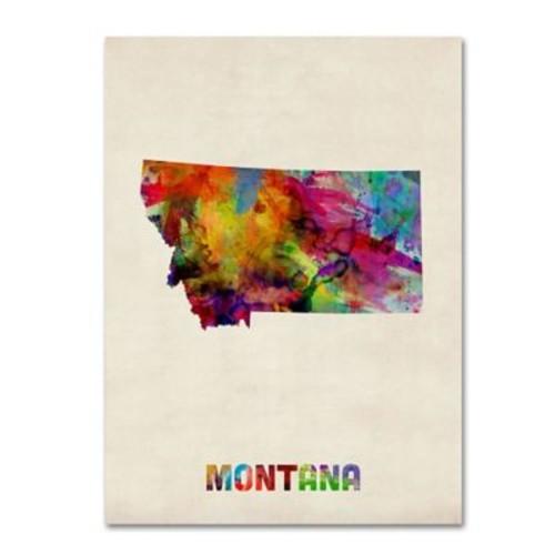 Trademark Fine Art 'Montana Map' 24