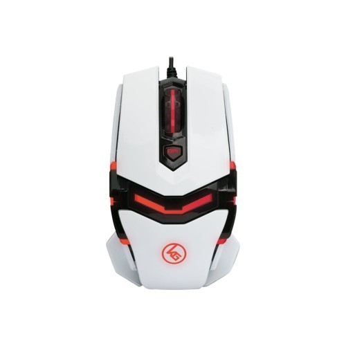 Iogear Kaliber Gaming FOKUS Pro Laser Gaming Mouse - Mouse - right and left-handed - laser - 8 buttons - wired - USB - imperial white (GME670)