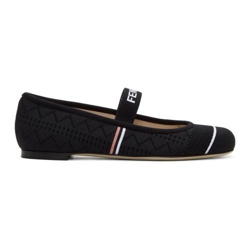 FENDI Black Sock Ballerina Flats
