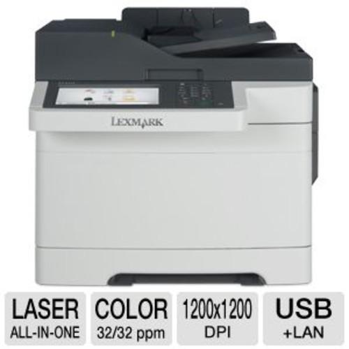 Lexmark CX510dhe 28E0615 MultiFunction Printer - Color Laser, 1200 x 1200 dpi, 32 ppm, Duplex Printing, Dual-Core 800MHz Processor, 1024MB Memory, USB, Ethernet, Scan, Copy, Fax