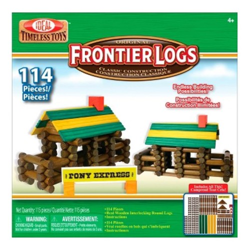 Ideal Frontier Logs Classic All Wood 114-Piece Construction Set