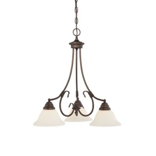 Millennium Lighting Fulton 3-Light Shaded Chandelier; Rubbed Bronze