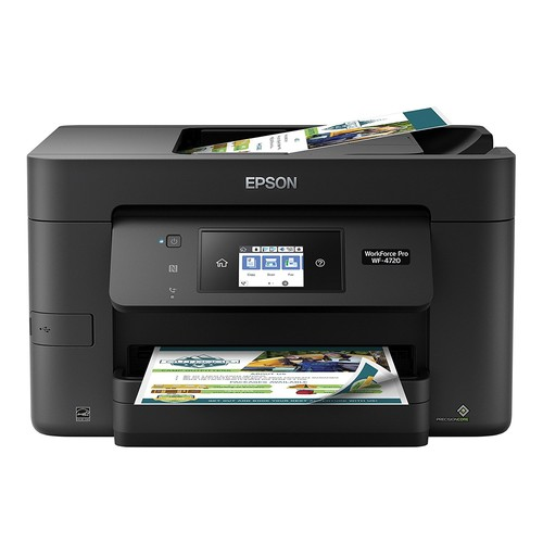 Epson WorkForce Pro WF-4720 Wireless All-in-One Color Inkjet Printer, Copier, Scanner with Wi-Fi Direct [WF-4720]