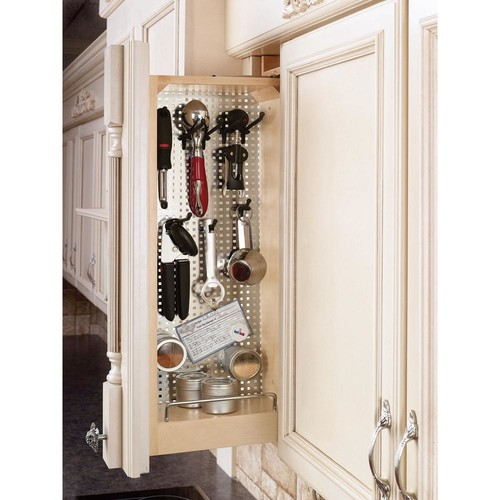Rev-A-Shelf 30 in. H x 6 in. W x 11.125 in. D Pull-Out Between Cabinet Wall Filler with Stainless Steel Panel