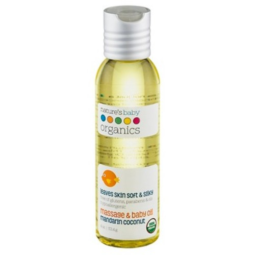 Nature's Baby Organics Baby Oil Mandarin Coconut - 4 fl oz