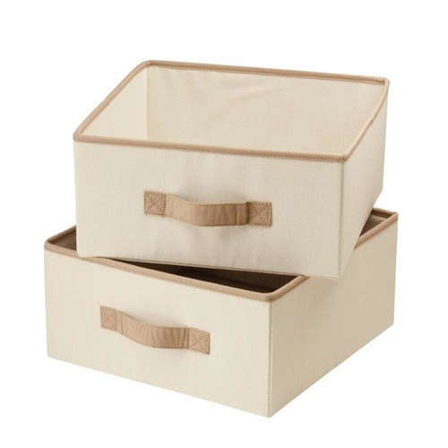 Honey-Can-Do Natural Canvas Drawers for Hanging Organizer (2-Pack)