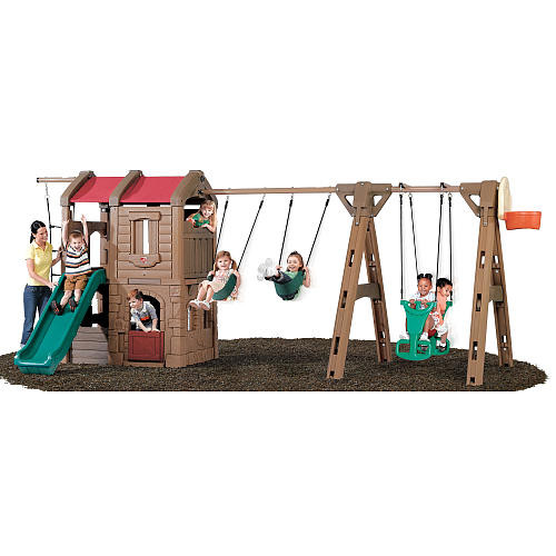 Step2 Adventure Lodge Play Center with Glider