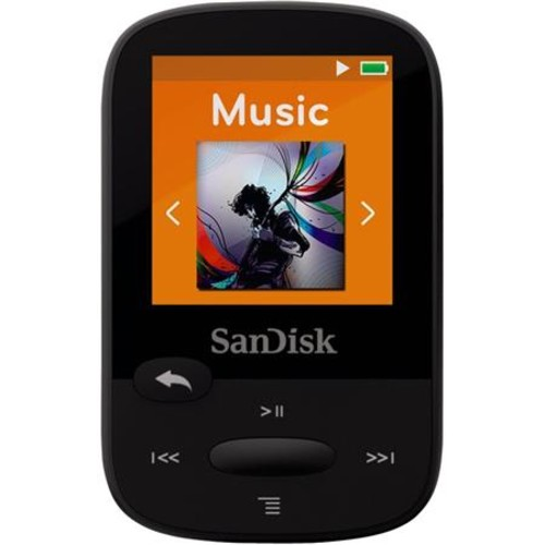 SanDisk Clip Sport Plus 16GB MP3 Player with Bluetooth & FM Radio, Black