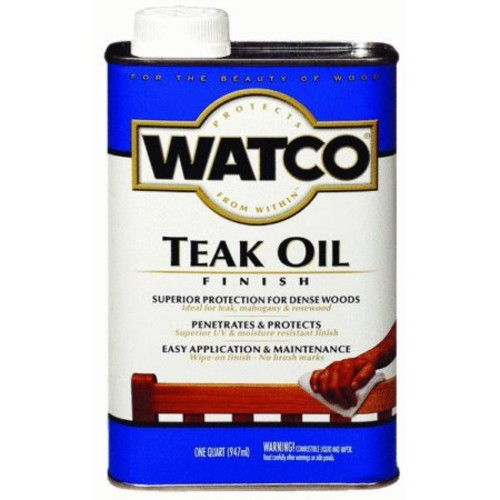 RUST-OLEUM 67131 Watco Gallon Teak Oil Finish One-Step Protection [One Gallon]