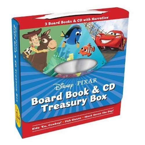 Disney-Pixar Board Book & CD Treasury Box : Ride 'Em Cowboy / Fish Games / Mack Saves the Day!