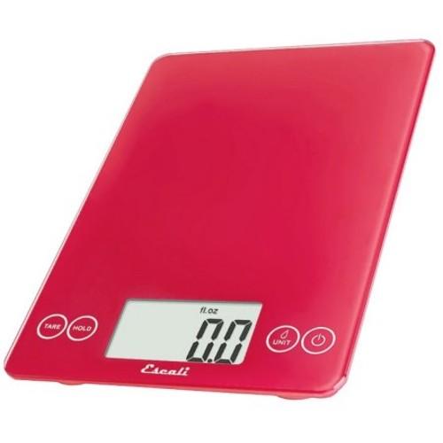 Escali - Arti Glass Digital Food Scale 157RR Retro Red